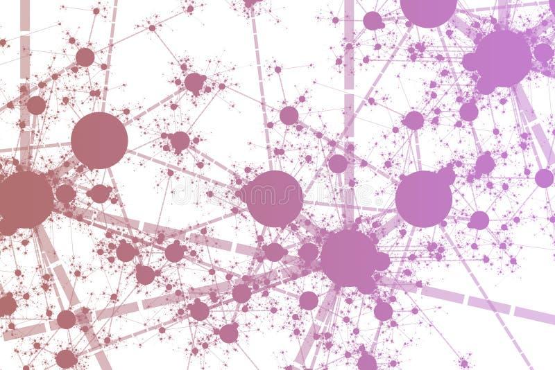 De Verf van het netwerk ploetert royalty-vrije illustratie