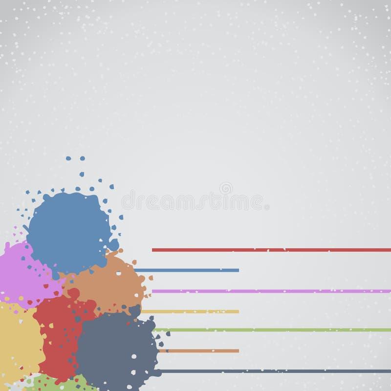 De verfbehang van de kleur vector illustratie