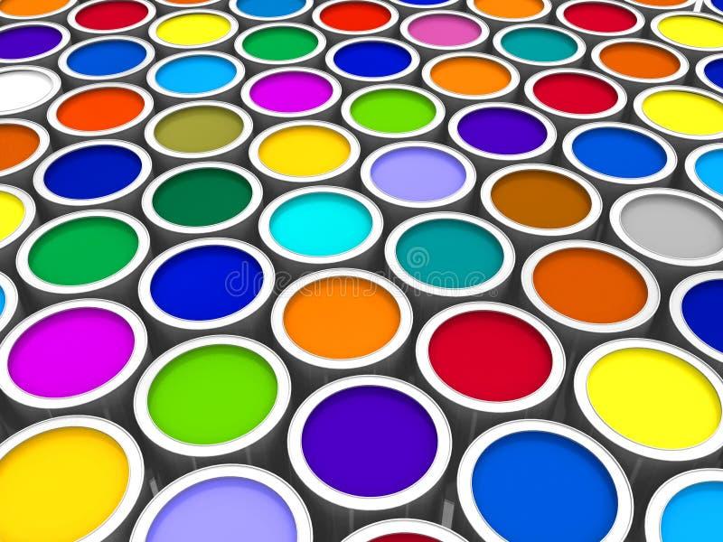 De verfblikken van de kleur stock illustratie