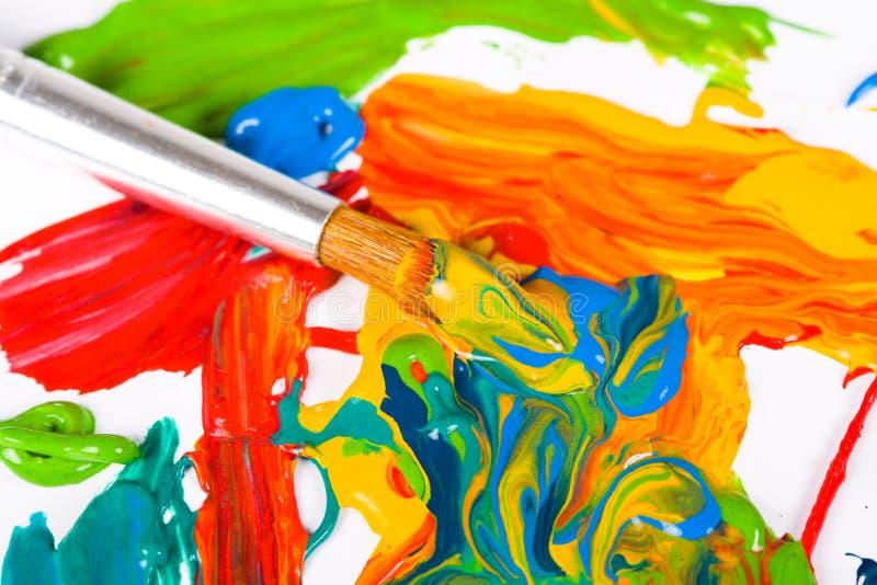 De verfborstel van de kunstenaar stock afbeeldingen