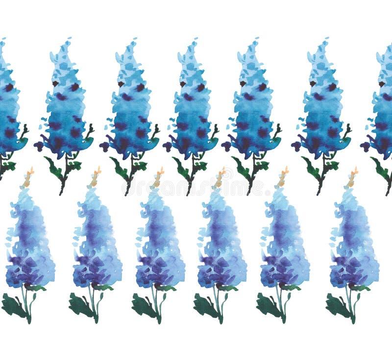 De verfijnde mooie schitterende heldere tedere zachte bloemen kruiden kleurrijke riddersporen van de de lentezomer bepaalden de p royalty-vrije illustratie