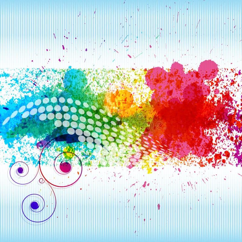 De verfplonsen van de kleur. stock illustratie