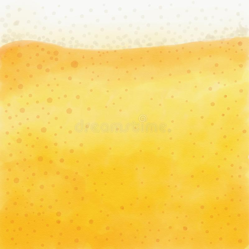 De verfrissende en schuimende achtergrond van het bierclose-up stock illustratie