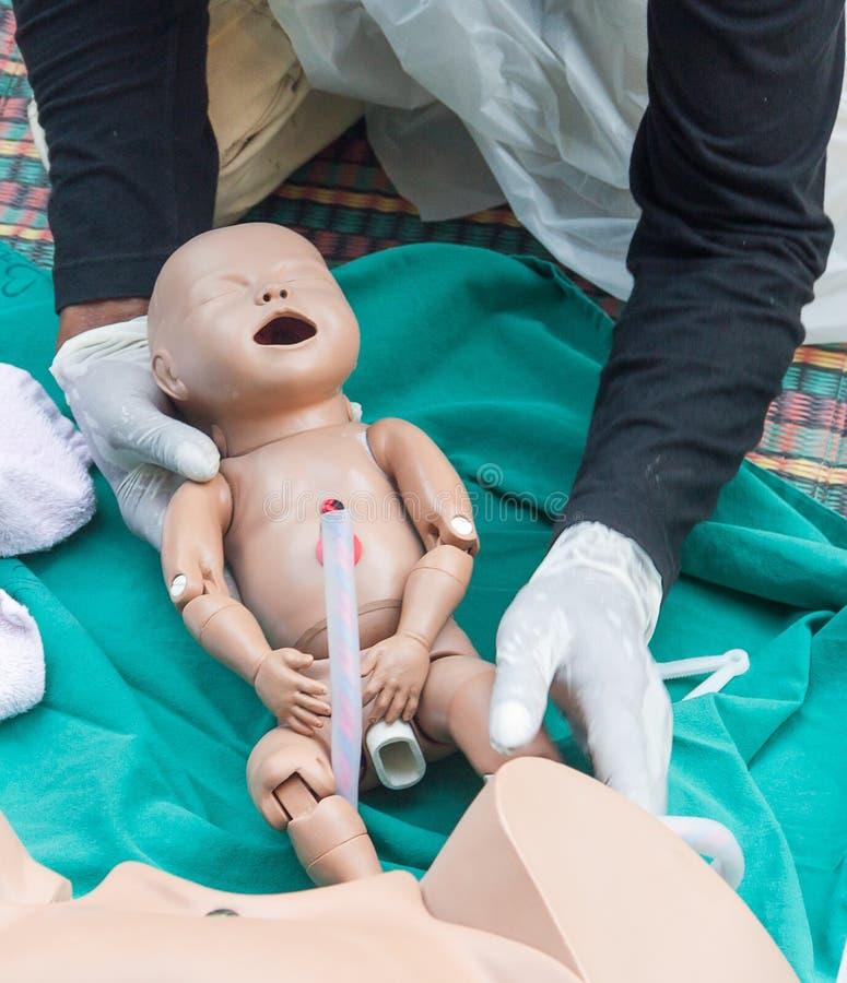 De verfrissing opleiding om bevalling bij te staan royalty-vrije stock foto