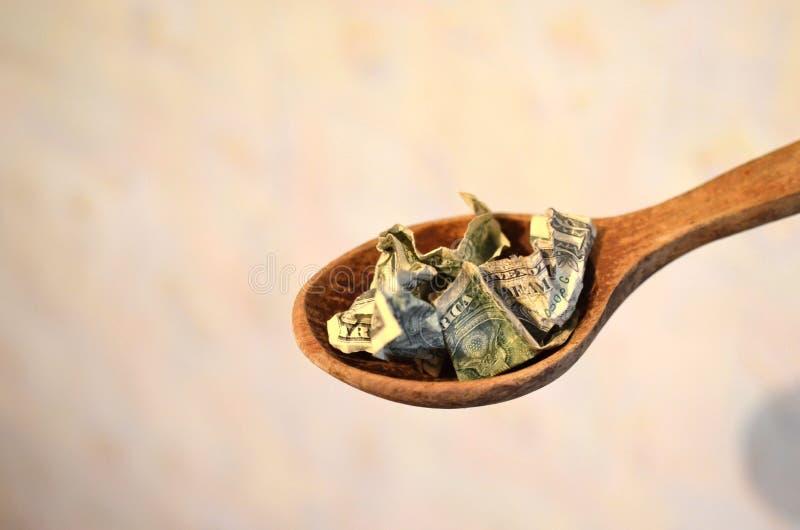 De verfrommelde bal van de de V De gerimpelde Rekening van de Dollar Amerikaanse verfrommelde nota's, dollars in a royalty-vrije stock afbeeldingen