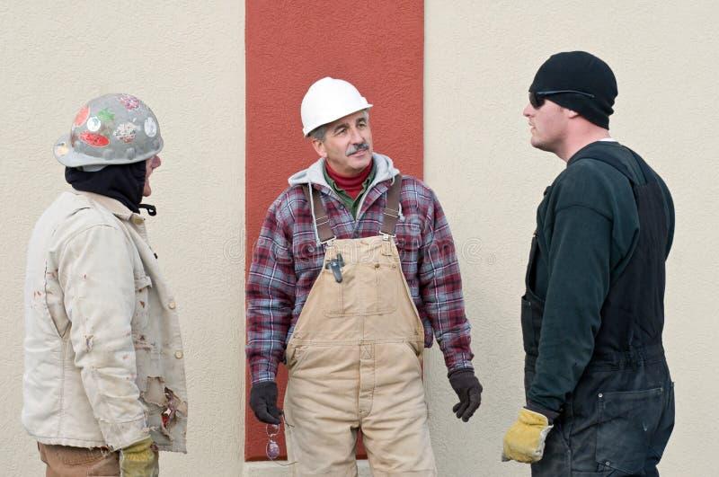 De Vergadering van de bouw stock fotografie
