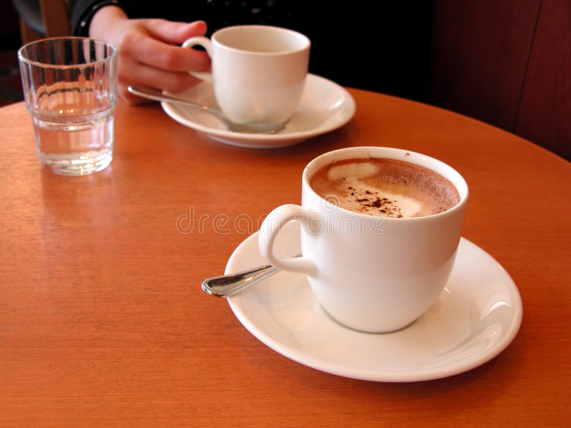 De vergadering van de koffie royalty-vrije stock foto's