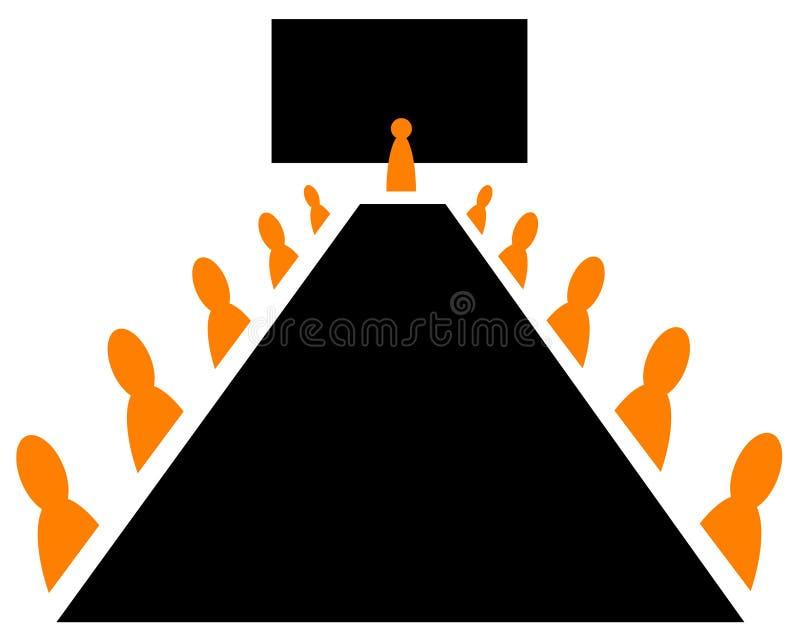 De vergadering van de raad royalty-vrije illustratie