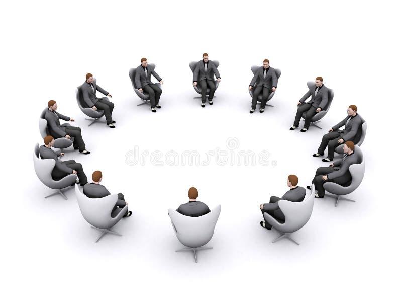 De vergadering van de raad stock illustratie