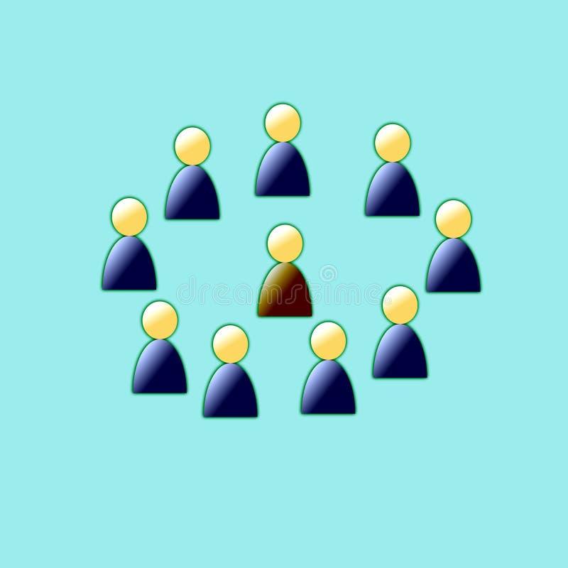 De vergadering van de samenwerking stock illustratie