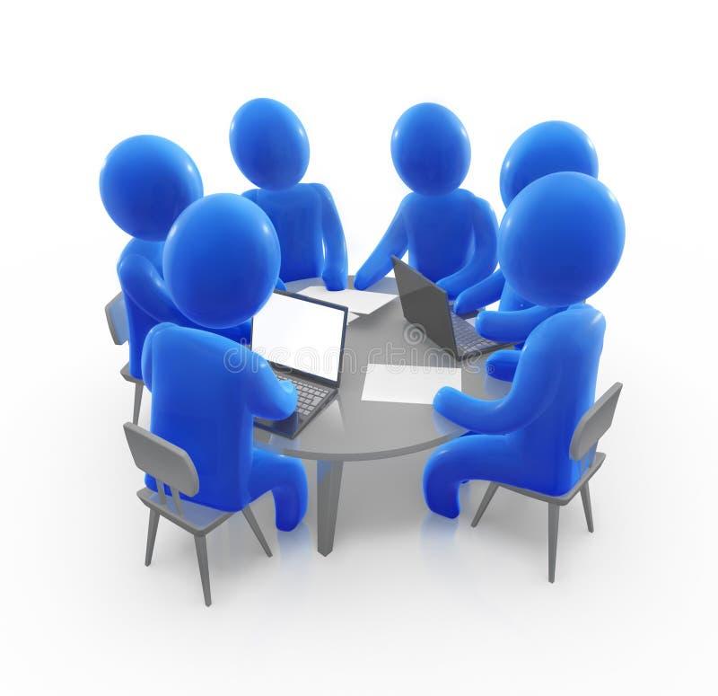 De vergadering van het team royalty-vrije illustratie
