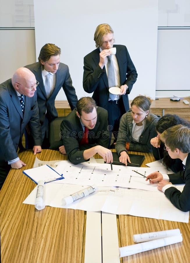 De Vergadering van het Team van het ontwerp stock fotografie
