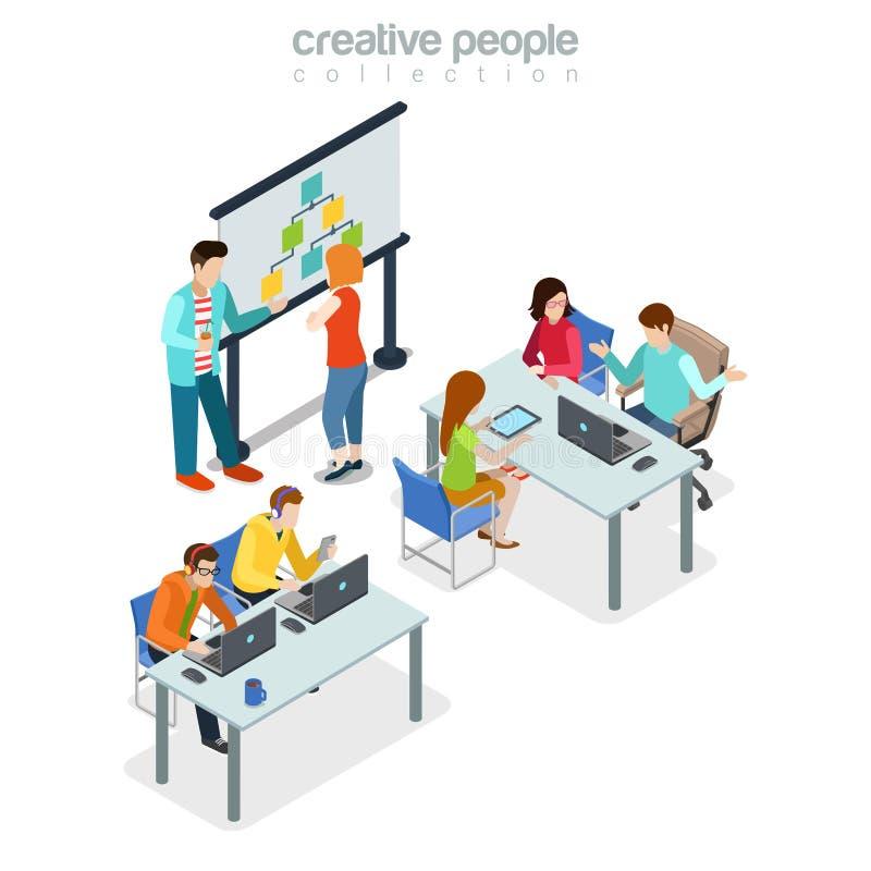 De vergaderingsbureau binnenlands Ind. van de Coworkingspresentatie stock illustratie
