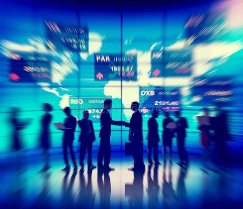 De Vergaderingsconcept van de bedrijfsmensen Globaal Munt stock fotografie
