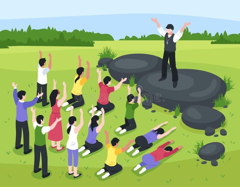 De Vergaderingssamenstelling van de randgroep stock illustratie
