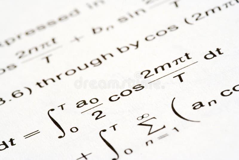De vergelijking van Math stock foto