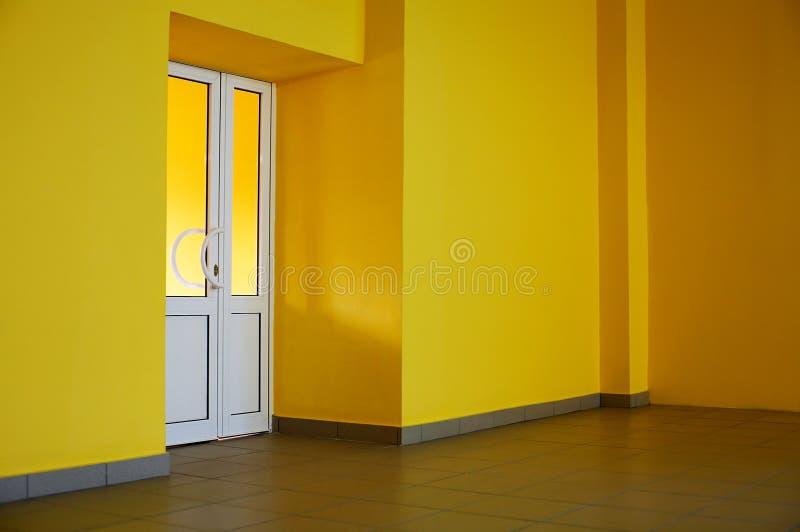 De verglaasde deur stock afbeelding