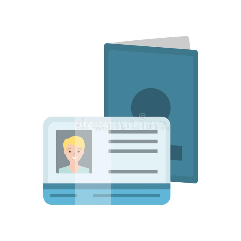 De Vergunning van paspoort abd Bestuurders met Mannelijke Foto, Identificatie of Identiteitskaart Vectorillustratie stock illustratie