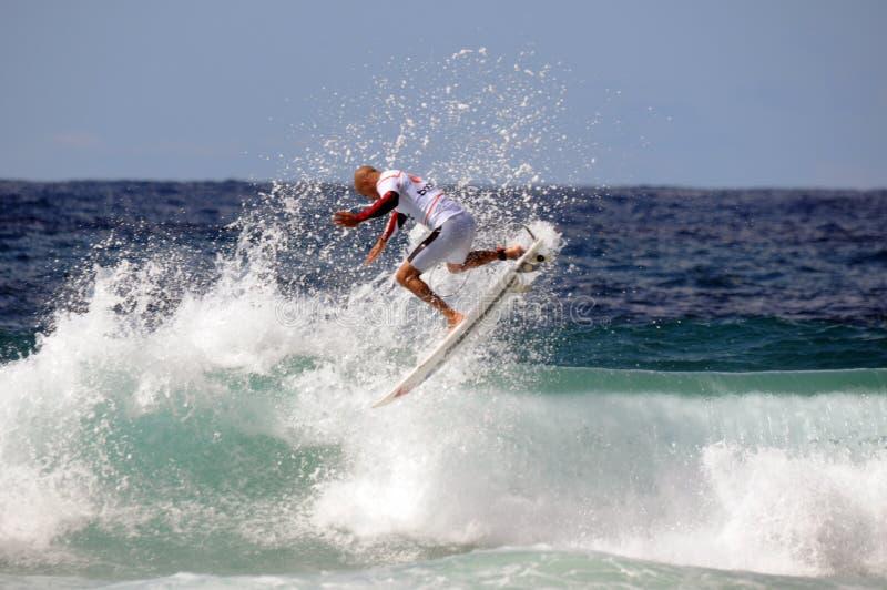 De Verhoging Surfsho van Kelly Slater Bondi royalty-vrije stock afbeeldingen