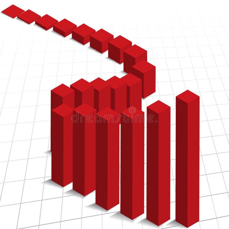 De verhoging van de de grafiekwinst van de grafiek vector illustratie