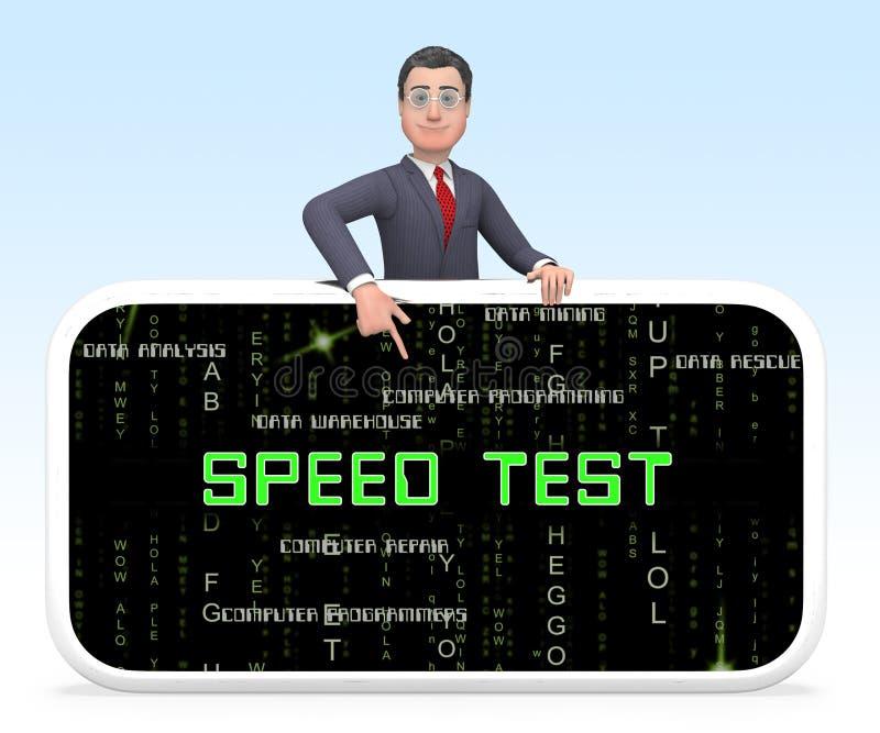 De Verhoging van de Testprestaties van de verbindingssnelheid het 3d Teruggeven royalty-vrije illustratie