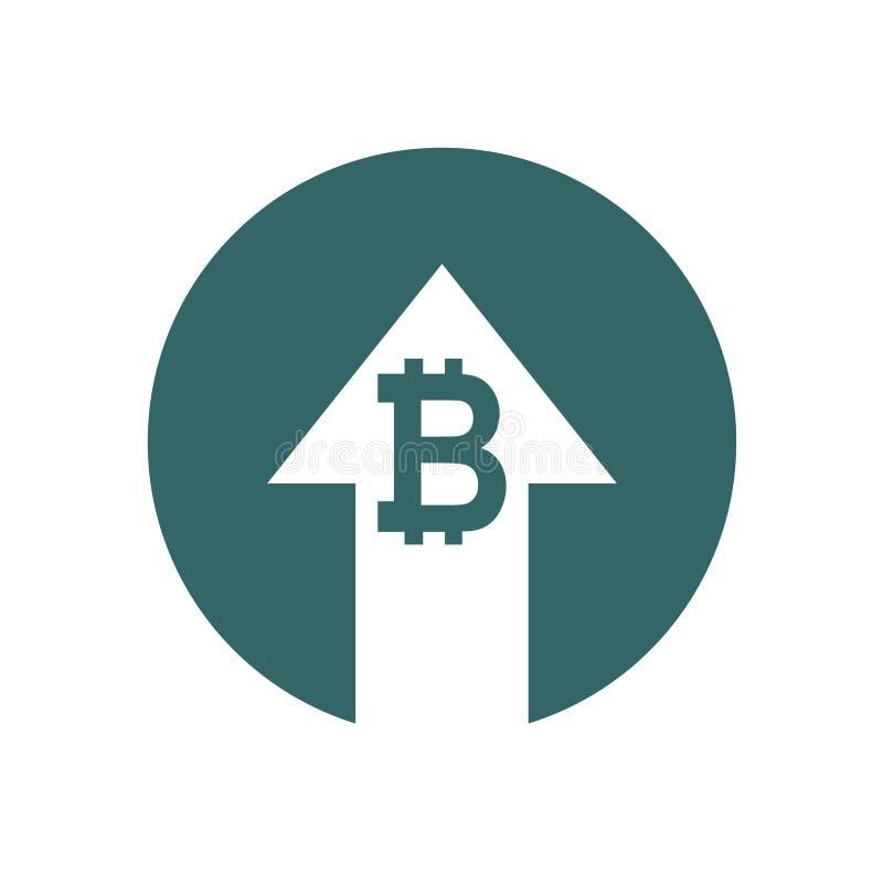 De verhogingspictogram van het kostensymbool Vectordiesymboolbeeld op achtergrond wordt geïsoleerd stock illustratie