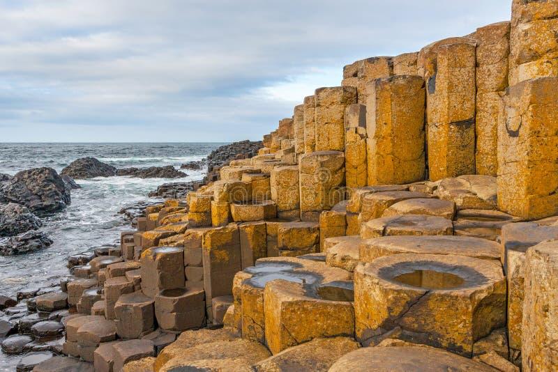 De Verhoogde weg van de reus, Noord-Ierland royalty-vrije stock afbeelding
