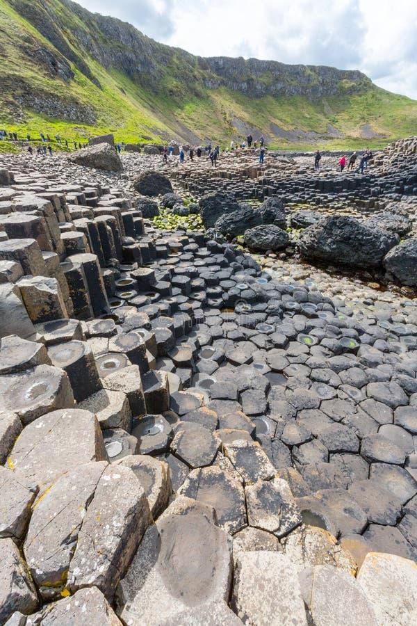 De Verhoogde weg van de reus, N ierland royalty-vrije stock afbeeldingen