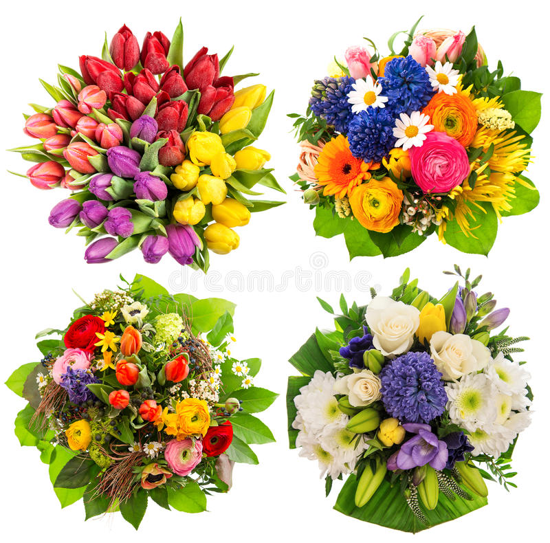 De Verjaardag van bloemboeketten, Huwelijk, Moedersdag, Pasen royalty-vrije stock foto