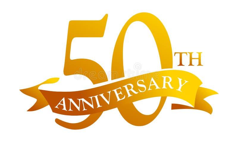 50 de Verjaardag van het jaarlint vector illustratie