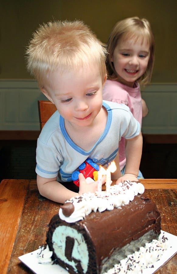 De Verjaardag van Little Boy royalty-vrije stock foto's