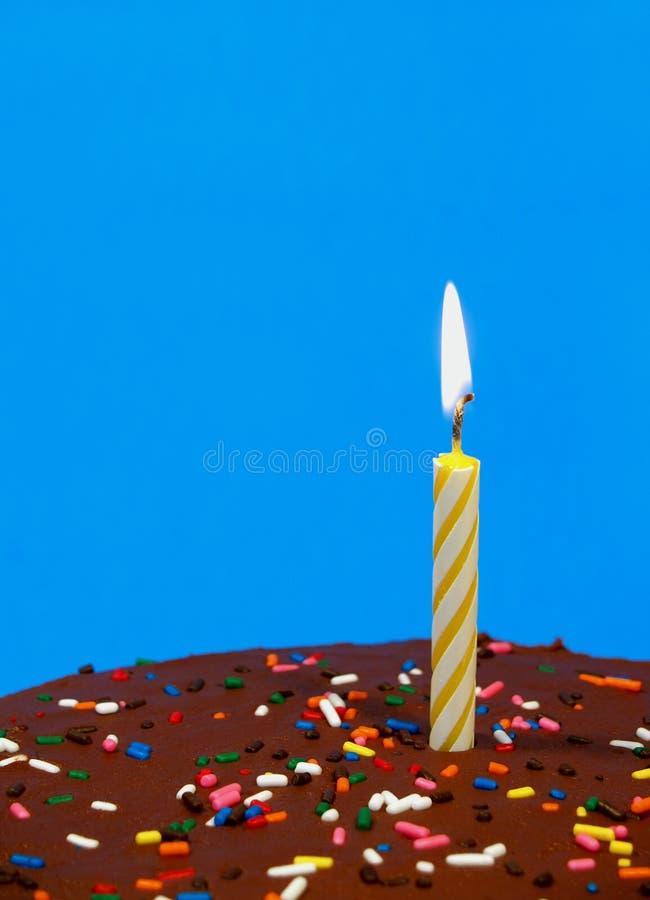 De verjaardagscake van de chocolade stock foto's