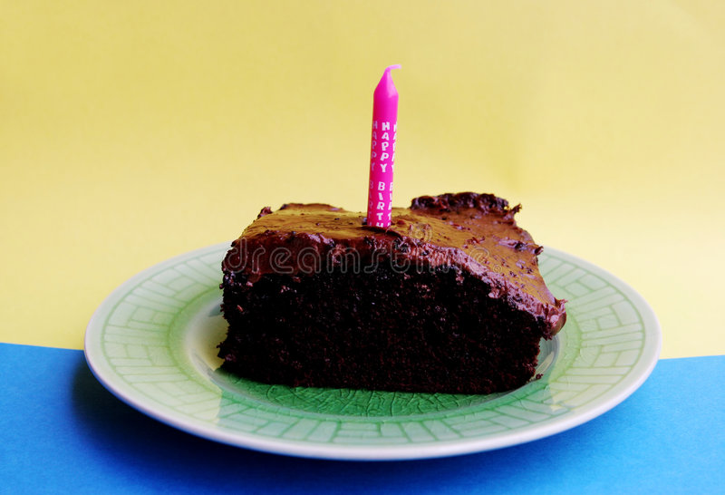 De verjaardagscake van de chocolade royalty-vrije stock fotografie