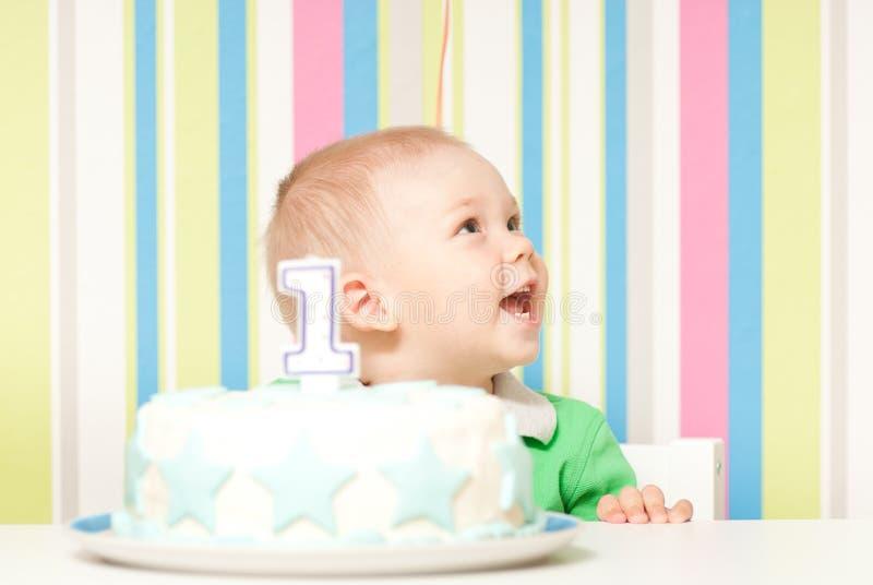 De verjaardagspartij van de één jaarbaby stock fotografie