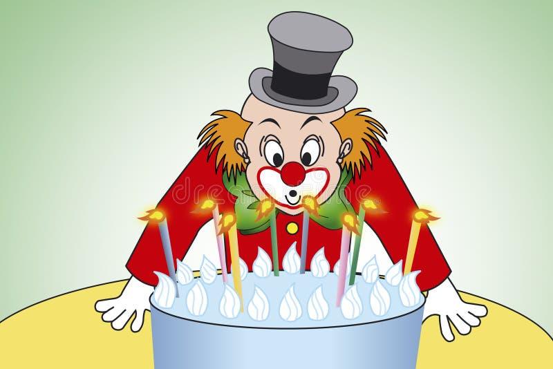 De verjaardagspartij van de clown royalty-vrije illustratie