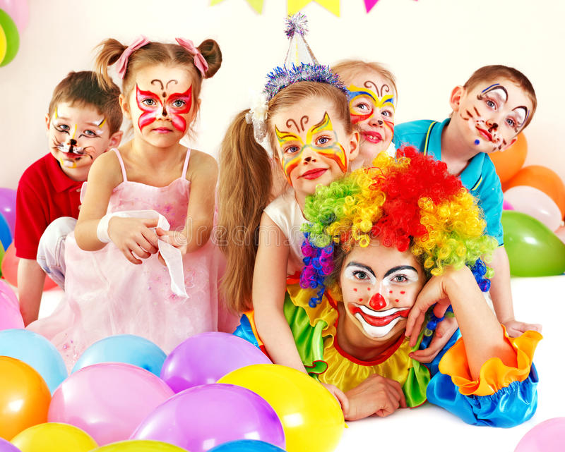 De verjaardagspartij van het kind. royalty-vrije stock foto's