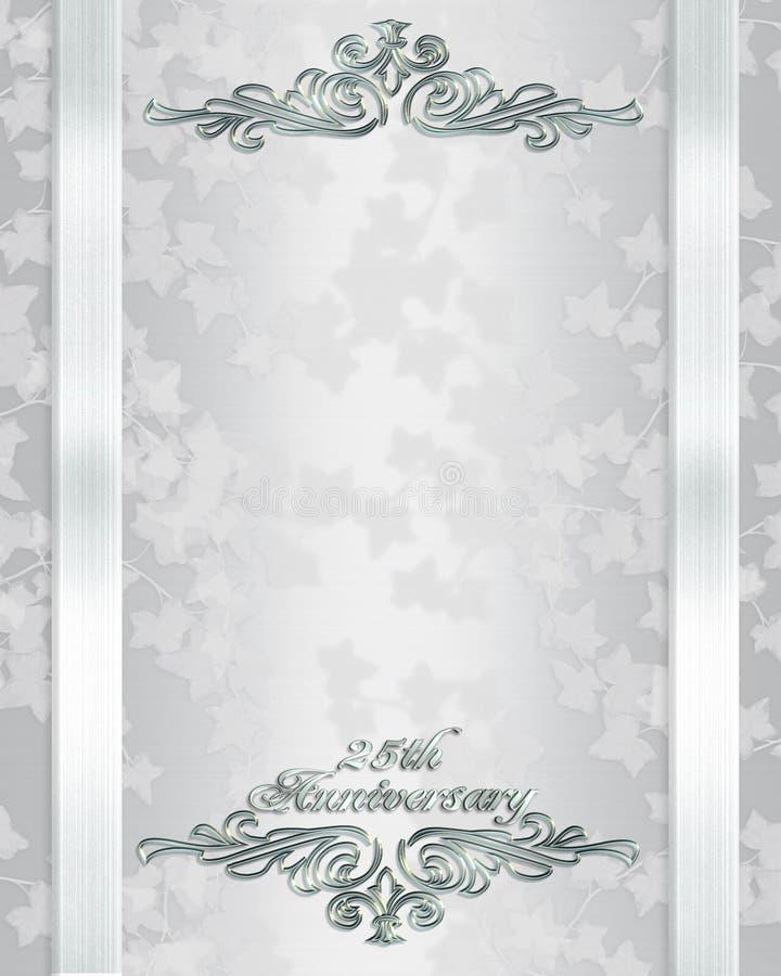 De verjaardagsuitnodiging van het huwelijk 25 jaar vector illustratie