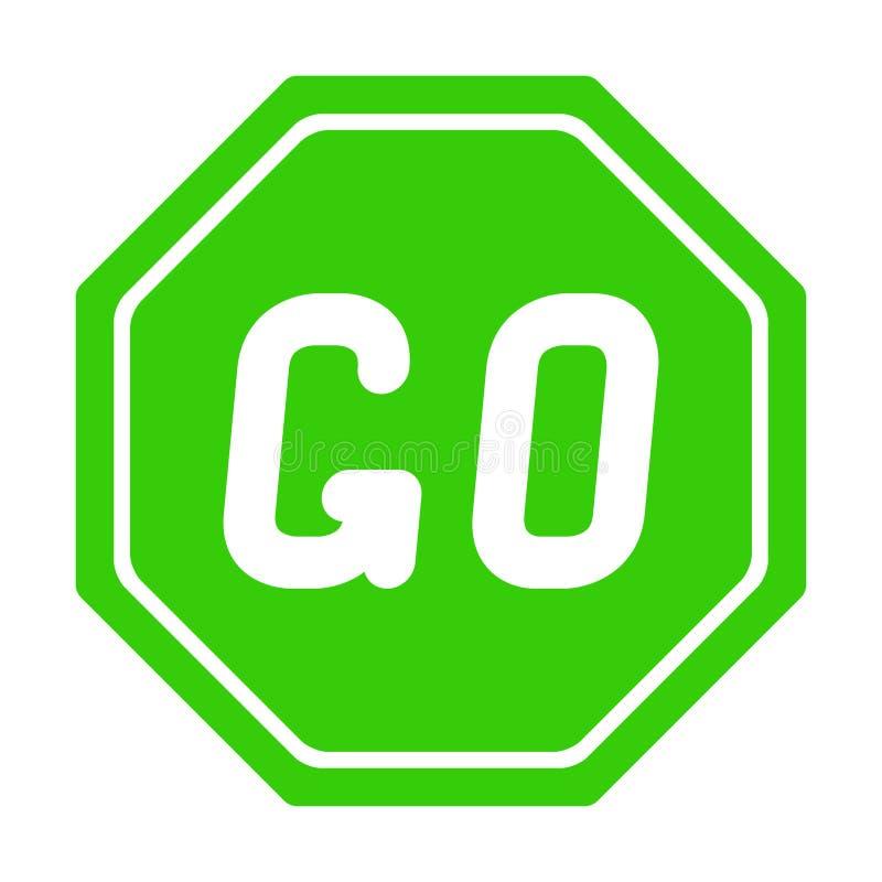 De verkeersteken GAAN op witte achtergrond vector illustratie