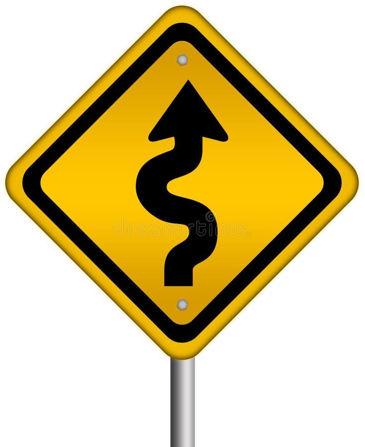 De verkeersteken van Curvy vector illustratie