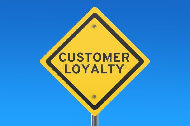 De verkeersteken van de klantenloyaliteit stock illustratie