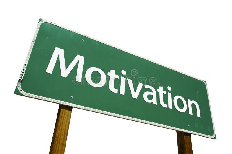 De verkeersteken van de motivatie royalty-vrije stock afbeelding