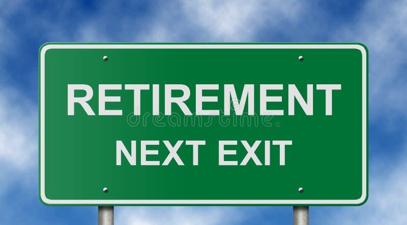 De Verkeersteken van de pensionering royalty-vrije stock foto