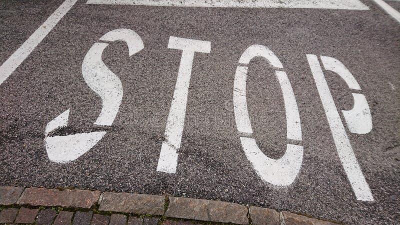 De verkeersteken van het einde stock foto