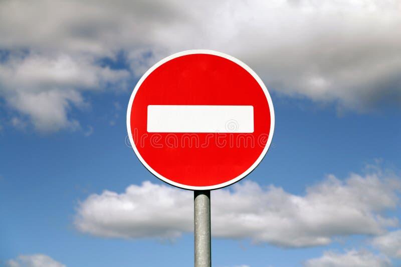 De verkeersteken van het verbod royalty-vrije stock foto's