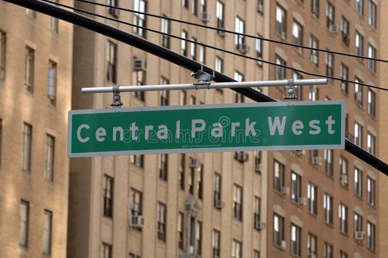 De Verkeersteken van het Westen van het Central Park royalty-vrije stock fotografie