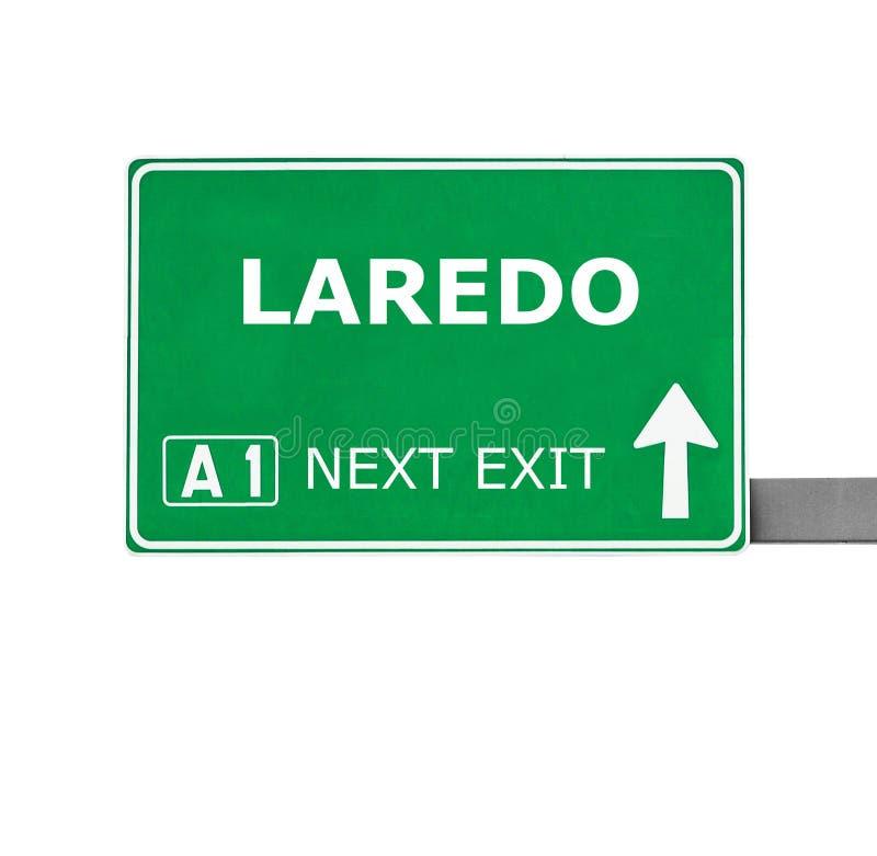 De verkeersteken van LAREDO die op wit worden geïsoleerd royalty-vrije stock afbeelding