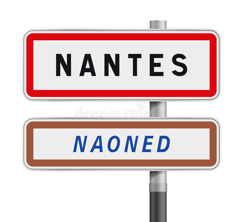 De verkeerstekeningang van Nantes royalty-vrije illustratie