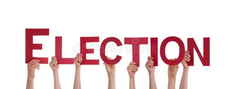 De Verkiezing van de mensenholding stock afbeelding