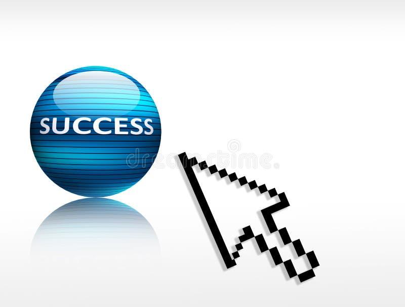 De verkiezing van het succes stock illustratie