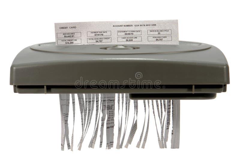 De Verklaring van de Creditcard in Ontvezelmachine royalty-vrije stock foto